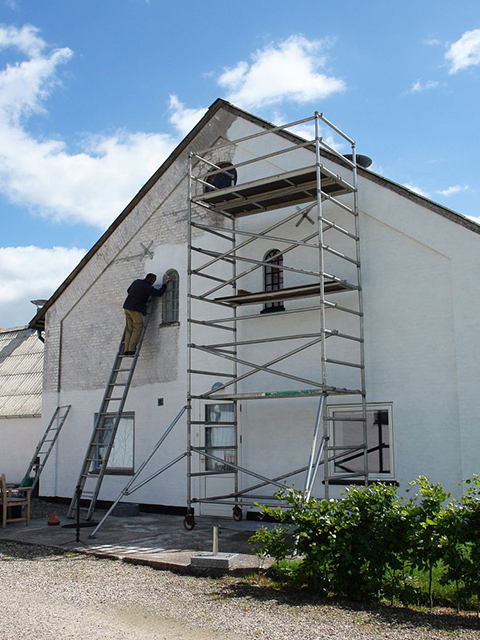 exterior house painting white Windermere