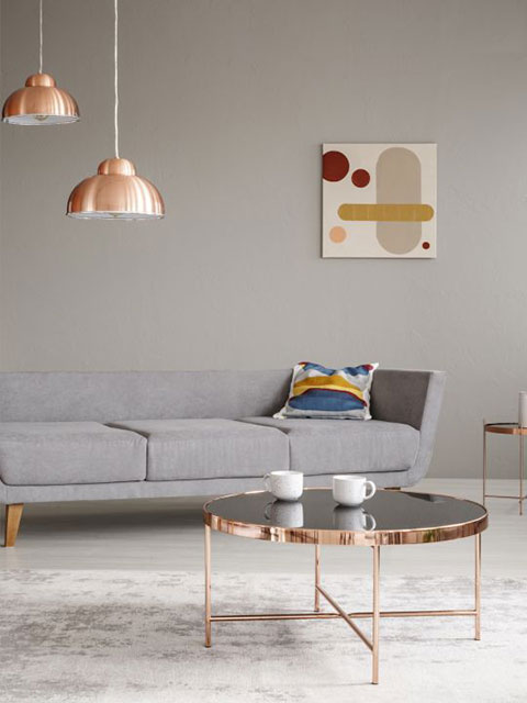 beautiful modern home interior paint gray walls Winter Park