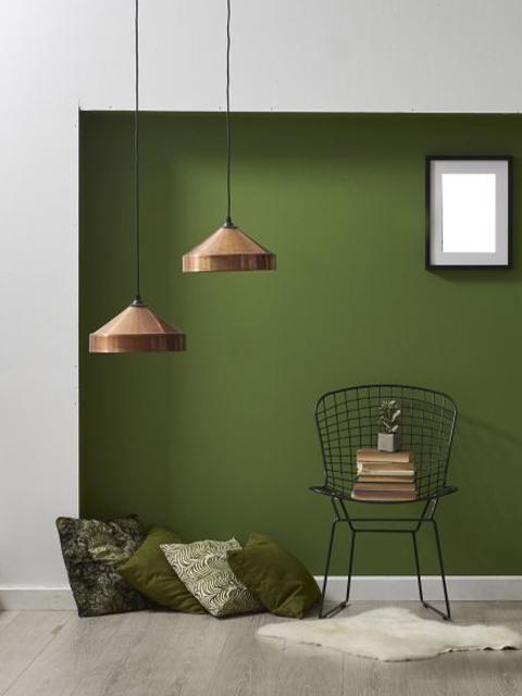interior wall in modern green lake nona